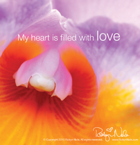 My heart is filled with love.