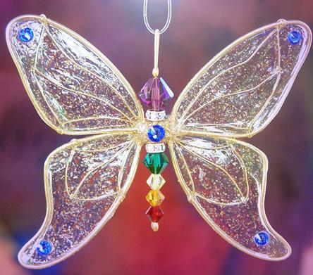 Chakra Butterfly Suncatcher