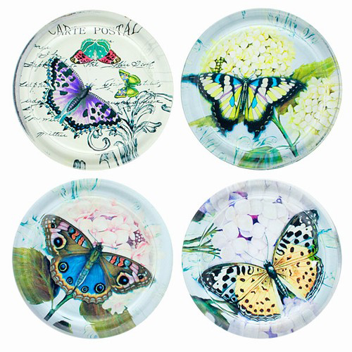 butterfly drink coasters butterfly gifts - Drink Coasters