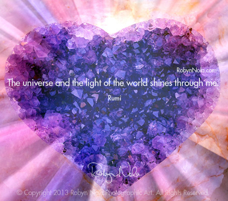 Inspirational Healing Art By Robyn Nola And Inspiring Quote By Rumi