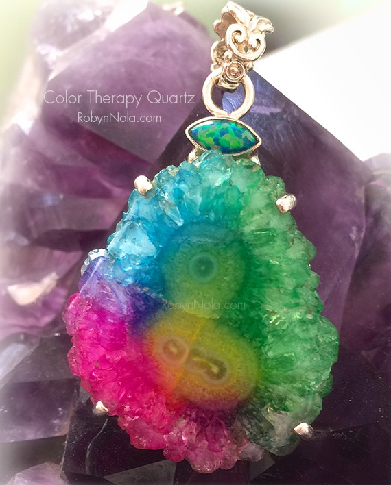 Color therapy quartz and fire opal pendant robyn nola gifts color therapy quartz and fire opal pendant aloadofball Gallery