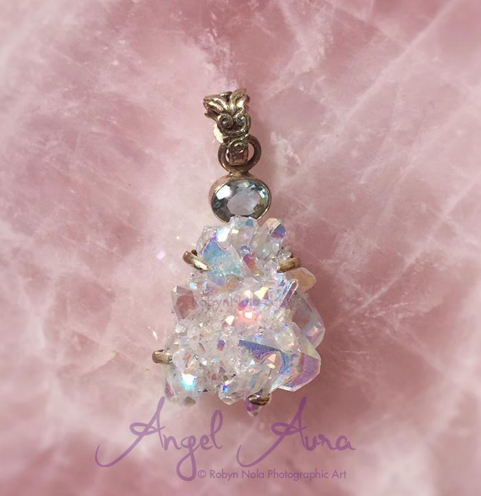 New Angel Aura Quartz Pendant Robyn Nola Gifts