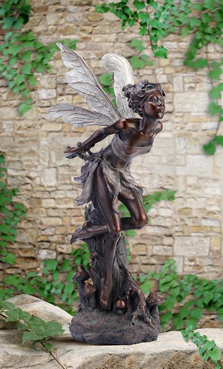 """Garden Statue Fairy: New! """"Titania, Queen Of The Fairies"""" Garden Fairy Statue"""