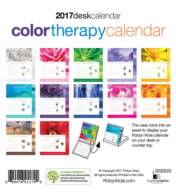 2019 color therapy calendar by robyn nola robyn nola gifts